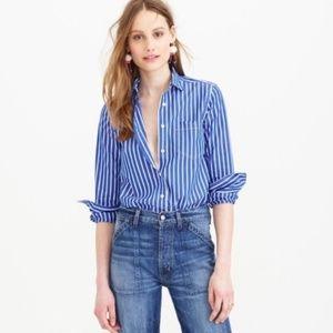 J. Crew Vertical Striped Shirt Buttondown Blue